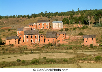 Typical village in the highlands of Madagascar