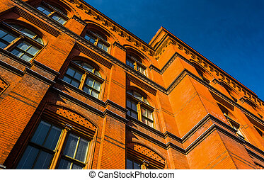 Brick building in Washington, DC.