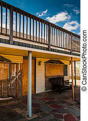 Damaged house in Point Pleasant Beach, New Jersey. - Damaged...