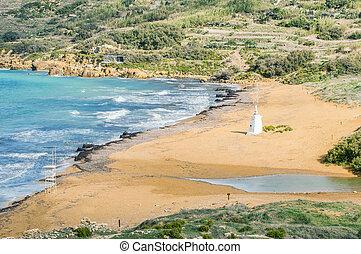 Ramla Beach on the northern side of Gozo, Malta - Ramla...