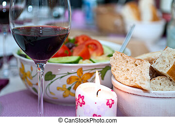 greek cole-slaw with redwine - greek cole-slaw with bread...