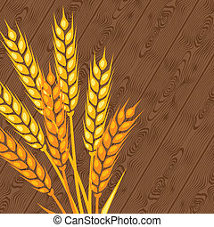 Background with ears of wheat