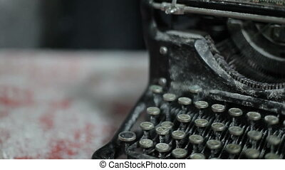 Close up video of antique typewriter