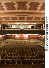 Cinema interior - Interior of retro cinema auditorium with...