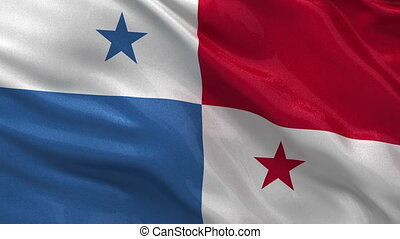 Flag of Panama seamless loop - Flag of Panama gently waving...