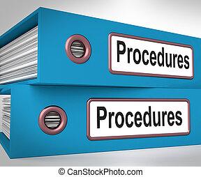 Procedimientos, carpetas, medio, correcto, proceso, y,...