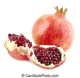 pomegranates isolated on a white background