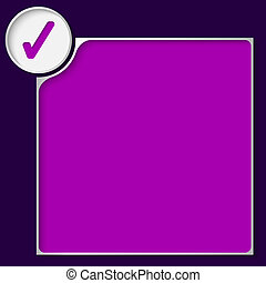 box for any text with purple check box