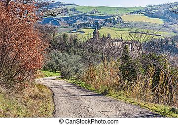 hills of Emilia Romagna, Italy