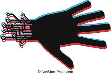 Effect tech hand - Creative design of effect tech hand