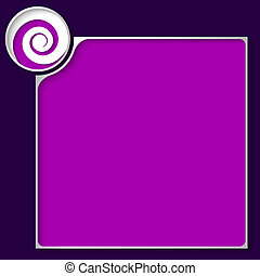box for any text with white spiral