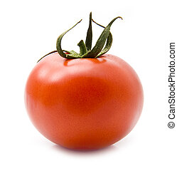 juicy tomatoe on a white background