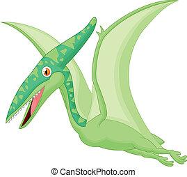 Pterosaurus cartoon - Vector illustration of Pterosaurus...