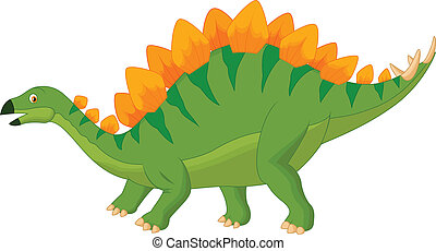 Cartoon stegosaurus - Vector illustration of Cartoon...