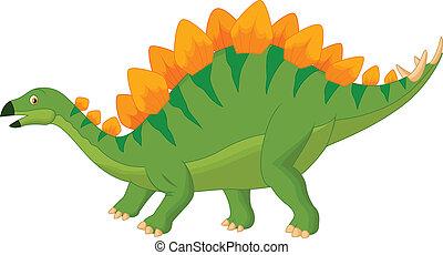 Cartoon stegosaurus - Vector illustration of Cartoon...