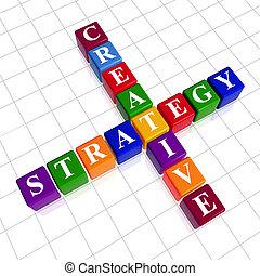 color creative strategy like crossword