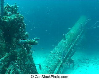 ship wreck - underwater video