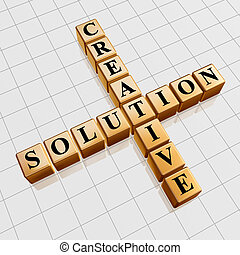 golden creative solution like crossword