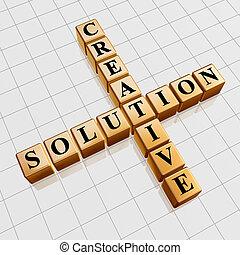 golden creative solution like crossword