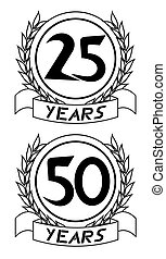 Emblem years - Creative design of emblem years