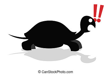 Exclamation turtle - Creative design of exclamation turtle