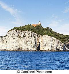 tino island view near porto venere