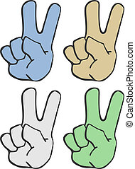 Four art hands - Creative design of four art hands