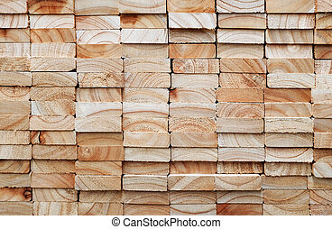 stack of square wood planks - Stack of square wood planks...