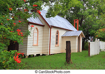 Quaint Country Church - Little country church with outdoor...