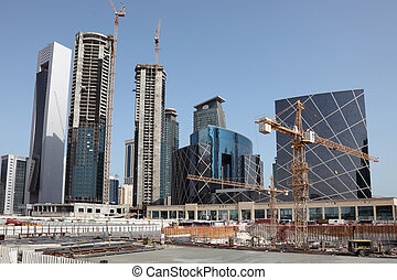 Construction site downtown in Doha, Qatar