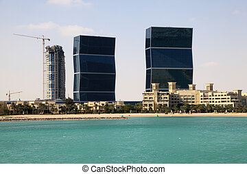 Zig Zag towers in Doha, Qatar, Middle East