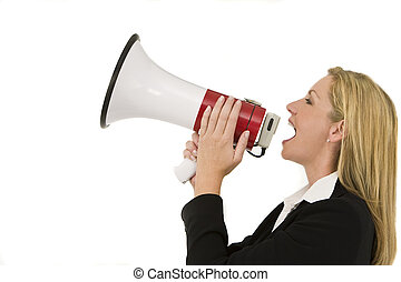 Shouting Businesswoman - A businesswoman shouting at the...