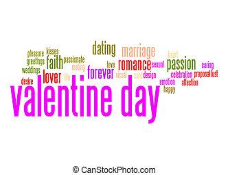 Valentine day word cloud