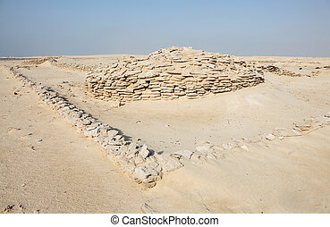The Zekreet Fort Ruins in Qatar, Middle East