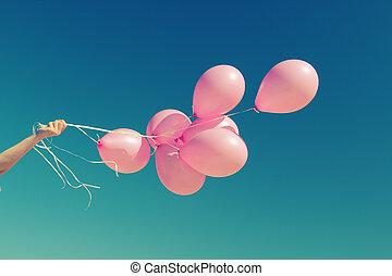 Cor-de-rosa, balões