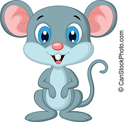 Cute mouse cartoon - Vector illustration of Cute mouse...