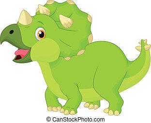 lindo,  Triceratops, caricatura