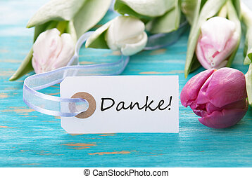 Banner with Danke - Banner with the German Word Danke which...