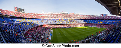 Camp Nou is a football stadium in Barcelona, Catalonia,...