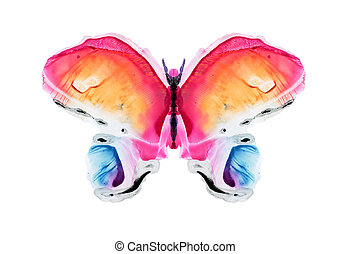watercolour butterfly - Abstract watercolour pattern, my own...