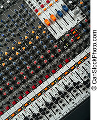 Recording studio mixing board - Photo of a recording studio...