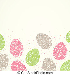 Vector Easter Background - Vector Illustration of a...