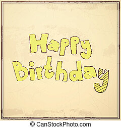 Vector Birthday Greeting Card