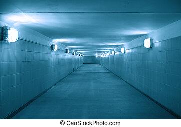 underground passage - empty underground passage