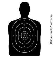 Shooting Range - Human Target - Gun firing range target...