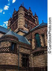 Trinity Church, in Boston, Massachusetts.