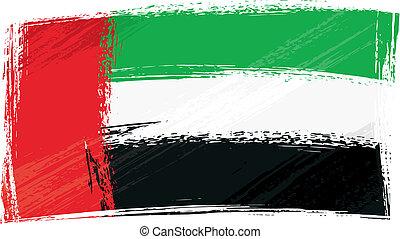 Grunge United Arab Emirates flag - United Arab Emirates...
