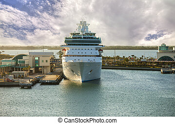 cruise ship in port canaveral, florida