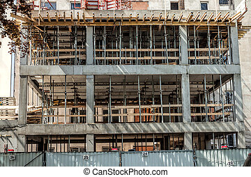 Building structure - Facade of a building structure,...