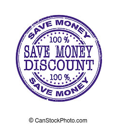 save money grunge stamp whit on vector illustration